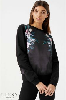 Lipsy Satin Floral Sweater