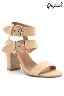 Qupid Double Ankle Strap Sandal