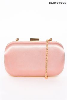 Glamorous Rounded Box Clutch Bag
