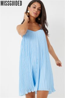 Missguided Strappy Pleated Swing Dress