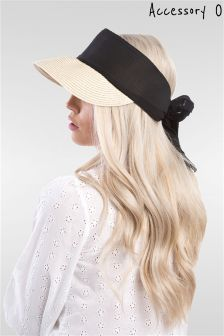 Accessory O Straw Visor Coloured Hat
