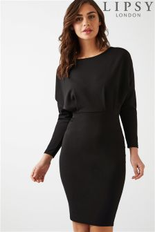 Lipsy Batwing Long Sleeve Dress
