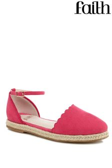 Faith Two Part Flat Espadrille Sandals