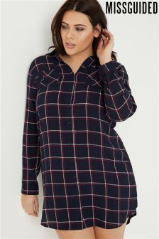 Missguided Plus Checked Shirt Dress