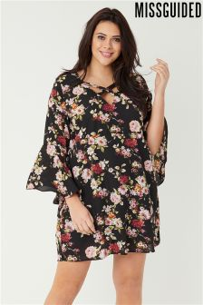 Missguided Curve Floral Print Dress