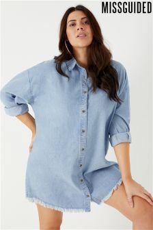 Missguided Overzised Denim Shirt Dress