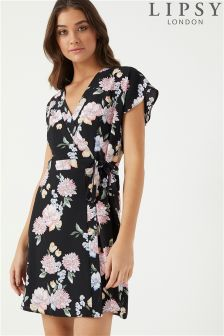 Lipsy Floral Wrap Dress