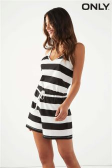 Only Stripe Jersey Playsuit