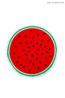South Beach Round Watermelon Towel