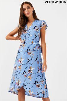 Vero Moda Wrap Calf Dress
