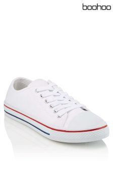 Boohoo Lace Up Canvas Shoes