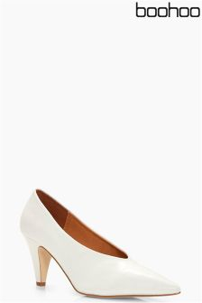 Boohoo Pointed Toe Vamp Court Heels