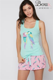 Boux Avenue Parrot Vest and Skater Shorts
