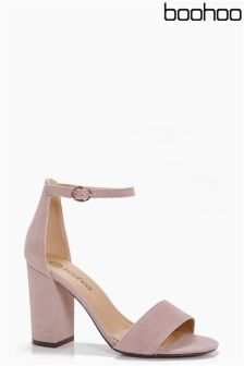 Boohoo Two Part Block Heel Sandals