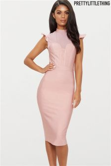 PrettyLittleThing Bandage Bodycon Midi Dress