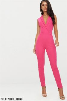 PrettyLittleThing Tuxedo Tailored Jumpsuit