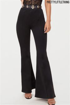 PrettyLittleThing High Waisted Flared Long Leg Trousers