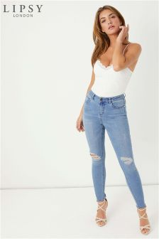 Lipsy Kate Distressed Skinny Jeans