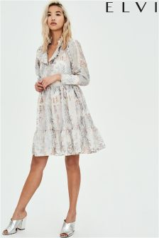 Elvi Embroidered Smock Dress