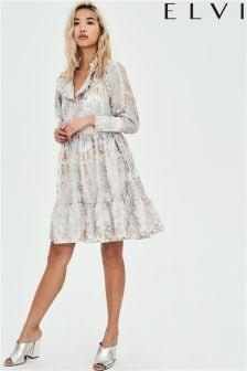 Elvi Embroidered Smock Dress