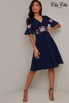 Chi Chi Agathe Aplique Embroiderry Dress