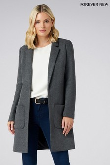 Forever New Petite Charcoal Coat
