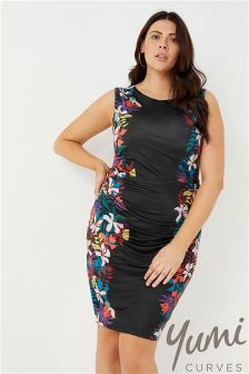 Yumi Curve Floral Bodycon Dress