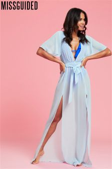 Missguided Kimono Maxi Dress