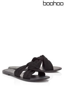 Boohoo Leather Sandals