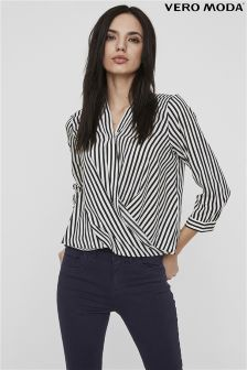 Vero Moda Petite Collar Wrap Top