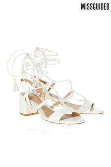 Missguided Block Heel Ghillie Sandals