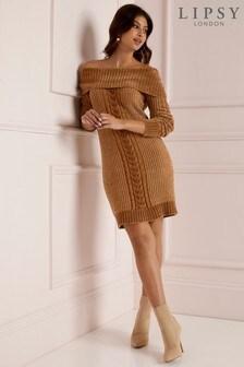 Lipsy Bardot Chenille Tunic Dress