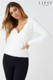 Lipsy Eyelash Wrap Jumper