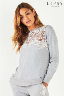 Lipsy Lace Insert Sweat Top