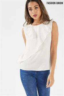Fashion Union Top With Ruffle Trim