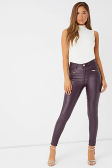Lipsy Kate Regular Coated Skinny Jeans