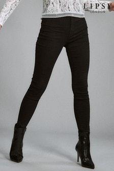Lipsy Selena Short Length Black High Waisted Skinny Jean