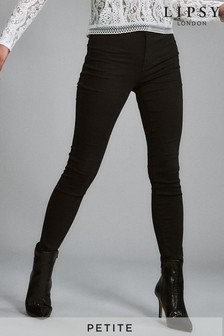 Lipsy Selena Petite Length Black High Waisted Skinny Jean