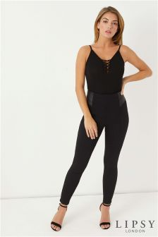 Lipsy Stella Coated Waist Panel Jeggings