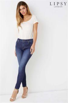 Lipsy Kim Short Length Rinse Wash Lift and Shape Skinny Jeans