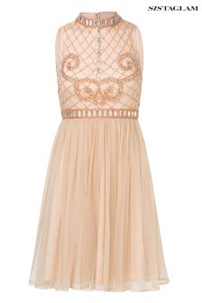 Sistaglam Beaded Prom Dress