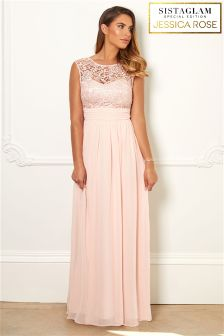 Sistaglam Loves Jessica Rose Lace Prom Dress