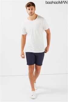 Boohoo Man Rolled Hem Stretch Chino Shorts