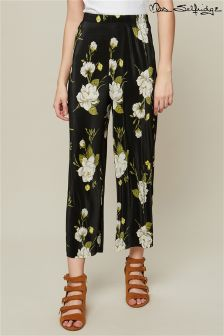 Miss Selfridge Floral Print Plisse Trousers
