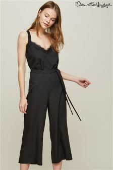 Miss Selfridge Lace Trim Culotte Jumpsuit