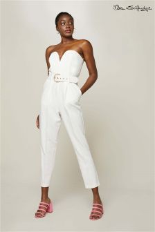 Miss Selfridge Bandeau Belted Jumpsuit