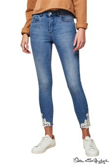 Miss Selfridge Petite Crochet Hem Jeans