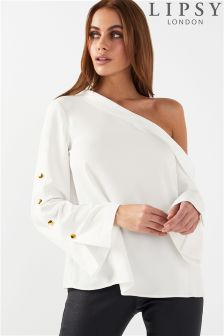 Lipsy One Shoulder Bardot Top