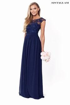 Zdobiona sukienka maxi Sistaglam