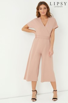 Lipsy Batwing Sleeve Cullotte Jumpsuit